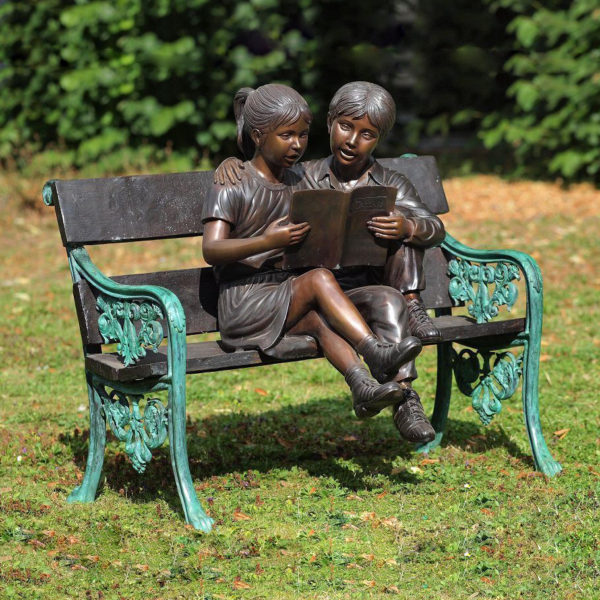 Bronze Children sculpture