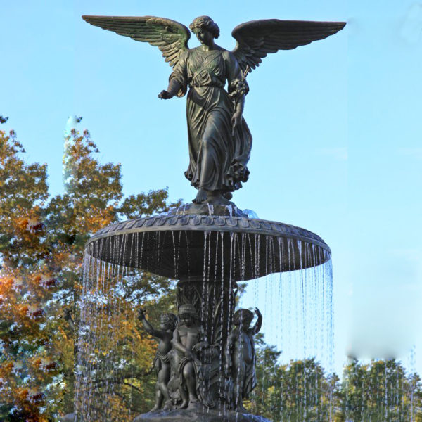 Bronze fountain sculpture