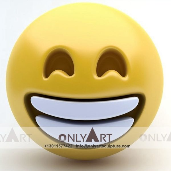 modern art ; large scale ; landscape sculpture ; square sculptures ; Street sculpture ; polychrome ; Colourful ; garden decoration ; Park decoration ; interior decoration ; Outdoor decoration ; Fiberglass ; Fiberglass cute smiley face sculpture