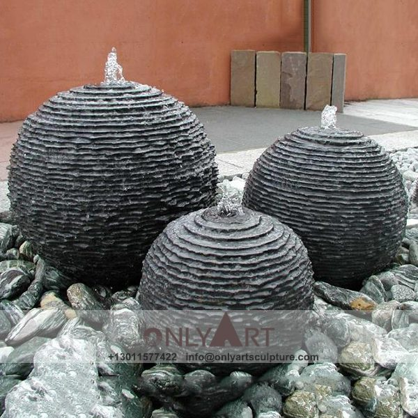 Fountain Marble Sculpture ; Marble Fountain ; stone Fountain ; Indoor ; Outdoor ; Hand carved ; life size ; Large ; Ball ; Wall Fountain ; Large Outdoor Garden Stone Water Fountain
