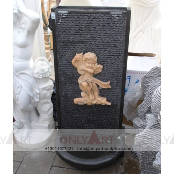 Fountain Marble Sculpture ; Marble Fountain ; stone Fountain ; Indoor ; Outdoor ; Hand carved ; life size ; Large ; Ball ; Wall Fountain ; marble garden stone fountain sculpture outdoor wall fountain waterfalls