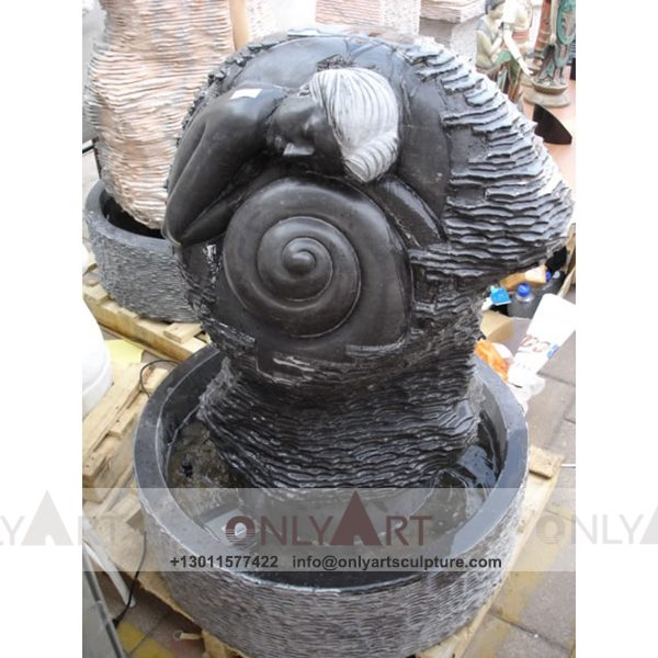 Fountain Marble Sculpture ; Marble Fountain ; stone Fountain ; Indoor ; Outdoor ; Hand carved ; life size ; Large ; Ball ; Wall Fountain ; Marble Stone Garden Water Exterior Fountains