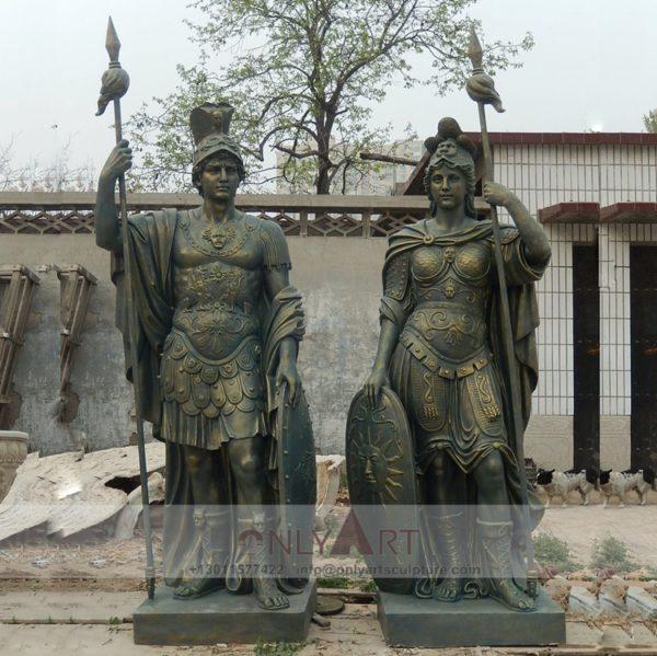 Large outdoor Fiberglass sculpture of a Roman soldier
