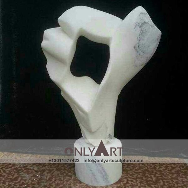 abstract sculpture ; famous abstract sculptures ; abstract figure sculpture ; modern abstract art sculpture ; White marble art modern abstract sculptures