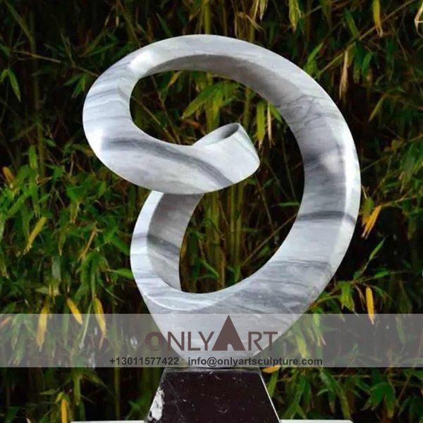 abstract sculpture ; famous abstract sculptures ; abstract figure sculpture ; modern abstract art sculpture ; New design white marble abstract art sculpture