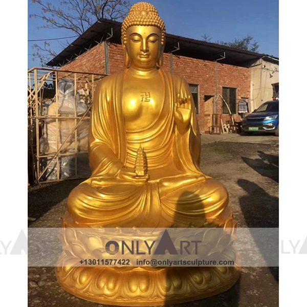 outdoor ; life size ; park decoration ; buddha statue ; art figurines ; thai buddha statue ; home decoration ; Fiberglass christmas authentic large buddha statue