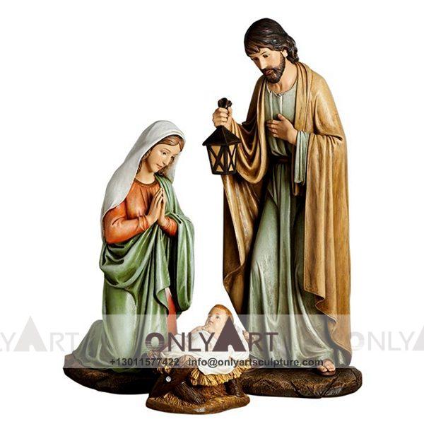 outdoor ; life size ; park decoration ; jesus statue ; jesus family ; church ; catholic statue ; Famous church holy jesus family statue