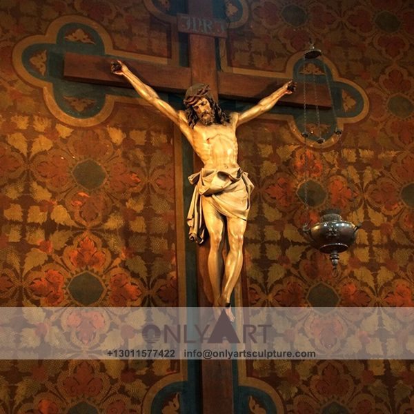 outdoor ; life size ; park decoration ; jesus statue ; jesus family ; church ; catholic statue ; catholic religious figure fiberglass jesus on the cross statue