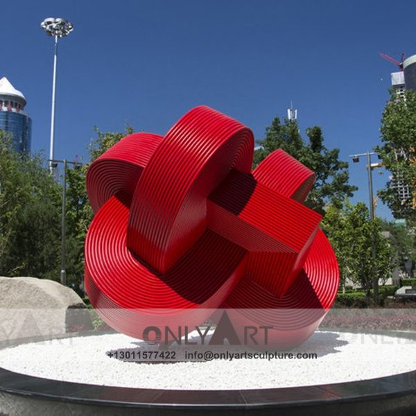 Stainless Steel Sculpture ; Stainless Steel chair ; Home decoration ; Outdoor decoration ; City Sculpture ; Colorful ; Corten Sculpture ; Large modern city red stainless steel logo statue