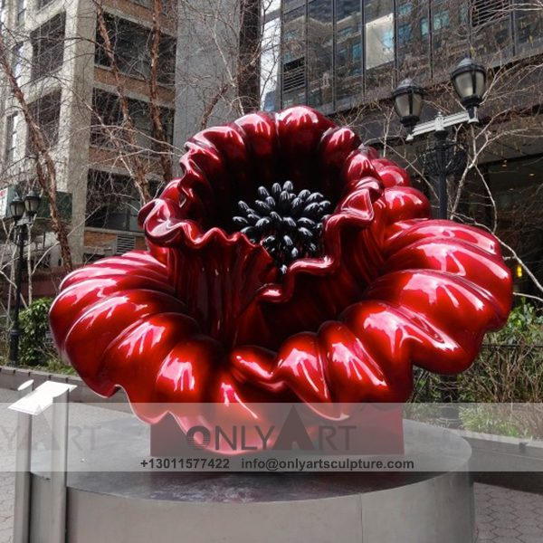 Stainless Steel Sculpture ; Stainless Steel chair ; Home decoration ; Outdoor decoration ; City Sculpture ; Colorful ; Corten Sculpture ; Mirror Art Statue ; Modern city stainless steel bright-coloured flower statue