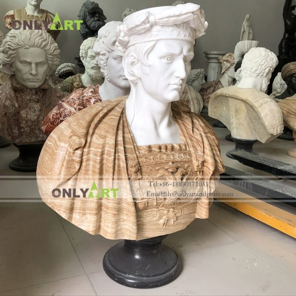 Marble Bust Statue ; Roman characters,Hellene